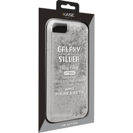 Bling Bling Hybrid Glitter Case 2.0 for Apple iPhone 6/6S/7/8, Galaxy Silver