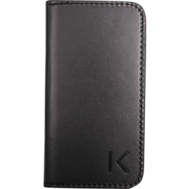 Book Type Flip case with mirror for Apple iPhone 4/4S, Picadilly Black leather