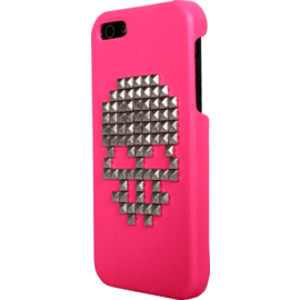 Case for Apple iPhone 5/5s/SE, Pink studded Skull