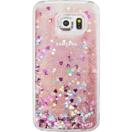 Case Bling Bling Glitter Case for Samsung Galaxy S6 Edge, Pink Lady
