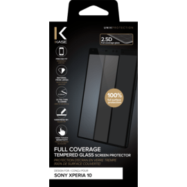 Full Coverage Tempered Glass Screen Protector for for Sony Xperia 10, Black