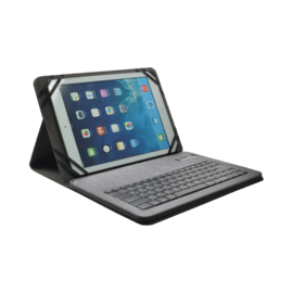 Case AZERTY Universal bluetooth keyboard with flipcase, 7-8 inch, Silver