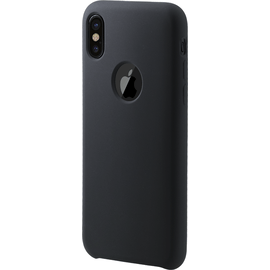 Soft Gel Silicone Case for Apple iPhone X/XS Satin Black