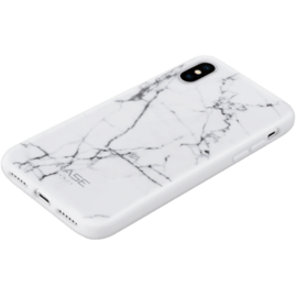 Custodia in marmo per iPhone X / XS, Bianco Bianco