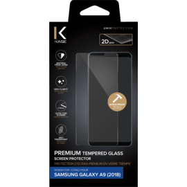 Premium Tempered Glass Screen Protector for Samsung Galaxy A9 2018, Transparent