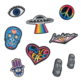 Funky Embroidered Stickers