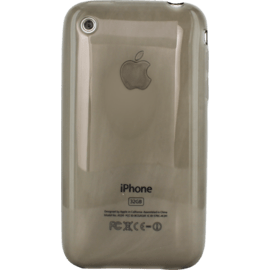 Case Case for Apple iPhone 3/3GS, Transparent Grey silicone