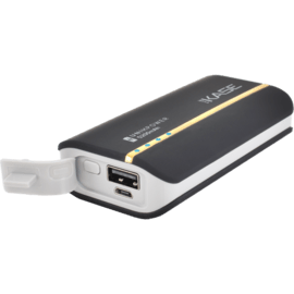 Universal PowerHouse external battery, 5200 mAh, Black