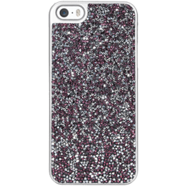 Rhinestone Bling case for Apple iPhone 5/5s/SE, Pink Flambe & Silver