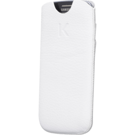 Case Sleeve with credit cards for Samsung Galaxy S3, Shrunken White leather