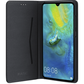 Folio Flip case with card slot & stand for Huawei Mate 20 , Black