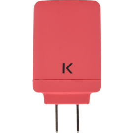 Universal Dual USB Charger (US) 3.1A, Coral