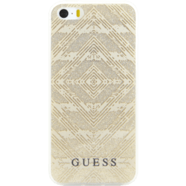 Guess Aztec 3D effect case for Apple iPhone 5/5s/SE, Sparkling gold