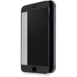Case Protection d'écran en verre trempé (100% de surface couverte) pour Apple iPhone 7 Plus, Noir