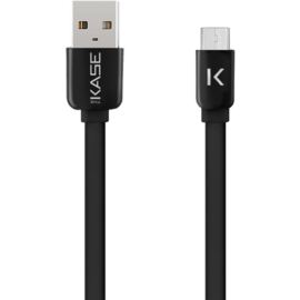 Case Flat cable to Micro USB (2m) for Android, Black