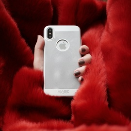 Custodia in maglia per Apple iPhone X, Silver