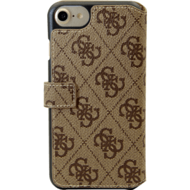 Custodia a libro Guess Uptown per iPhone 6 / 6s / 7/8 / SE 2020, marrone