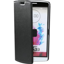 Case Book-type Magnetic flip case with credit card slot for LG G3, Black