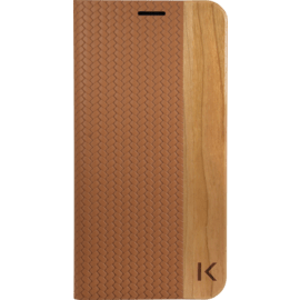 Case Flip case for Samsung Galaxy S7 Edge, Brown & Natural Cherry Wood