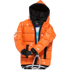 Case Down Jacket Phone Pocket with Lanyard (5 inch), Orange