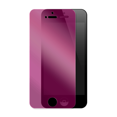 Case Privacy Screen protector for Apple iPhone 5/5s/5C/SE, Pink