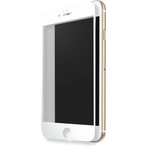 Case Full Coverage Tempered Glass Screen Protector for Apple iPhone 7 Plus, White