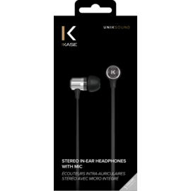 Stereo In-Ear Headphones with Mic, Silver