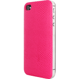 Clip Case for Apple iPhone 4/4S, Genuine Lizard pattern Pink calf leather