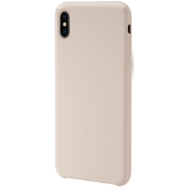 Coque en Gel de Silicone Doux pour Apple iPhone XS Max, Rose Sable