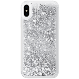 Bling Bling Hybrid Glitter Case for Apple iPhone XS Max, Galaxy Silver