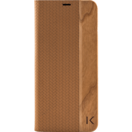 Flip case for Samsung Galaxy S8+, Brown & Natural Cherry Wood