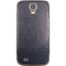 Case Back cover for Samsung S 4, Italian genuine calf leather, Navy