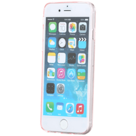 Coque silicone pour Apple iPhone 6/6s, Ultra Slim 0,65mm Transparent Rose