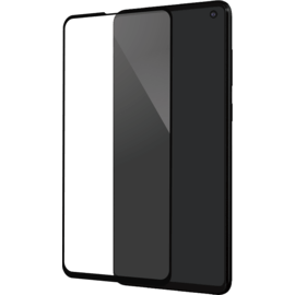 Full Coverage Tempered Glass Screen Protector for Samsung Galaxy S10e, Black