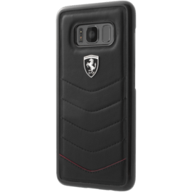 Ferrari Heritage Genuine leather case for Samsung Galaxy S8, Black