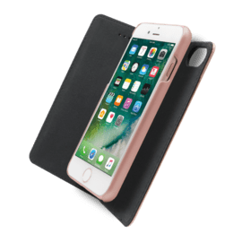 2-in-1 Magnetic Slim Wallet & Case for Apple iPhone 6 Plus/6s Plus/7 Plus/8 Plus, Rose Gold