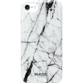 Marble Motif Silicone Case for Apple iPhone 6/6s/7/8, Bianco white