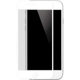 Full Coverage Tempered Glass Screen Protector for iPhone 6/6s Plus, White