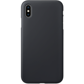 Anti-Shock Soft Gel Silicone Case for Apple iPhone XS Max, Satin Black