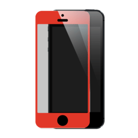 Premium Tempered Glass Screen Protector for Apple iPhone 5/5s/5C/SE, Red