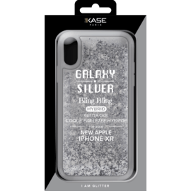 Bling Bling Hybrid Glitter Case for Apple iPhone XR, Galaxy Silver