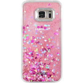 Case Bling Bling Glitter Case for Samsung Galaxy S7, Pink Lady
