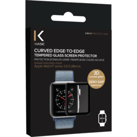 Curved Edge-to-Edge Tempered Glass Screen Protector for Apple Watch® Series 1/2/3 38mm