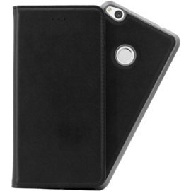2-in-1 Magnetic Slim Wallet & Case for Huawei P8 Lite (2017), Black