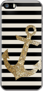 Case Glitter Anchor in Gold and Black by NIKA