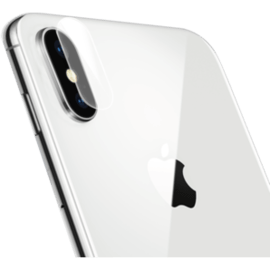 Curved Edge-to-Edge Tempered Back Glass Protector (with Camera Lens Shield) for iPhone X, Silver White