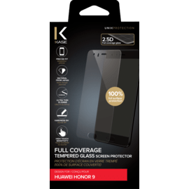 Full Coverage Tempered Glass Screen Protector for Huawei Honor 9, Transparent