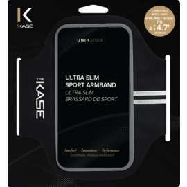Ultra Slim Brassard de Sport pour Apple iPhone 6/6s/7/8, Noir