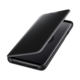 Clear View cover avec fonction Stand Black Galaxy S9+