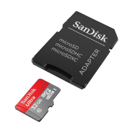 Micro SDHC Ultra 32 Go UHS-I Card avec adaptateur SD